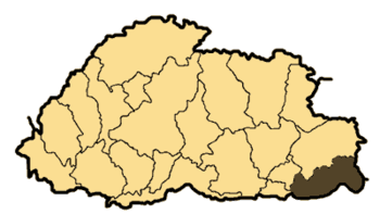 Bhutan Samdrup Jongkhar District or Dzongkhag