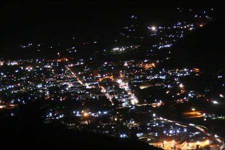 Night shot of Thimphu