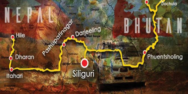 The Three Nation Cross Country Car Rally Hits Bhutan
